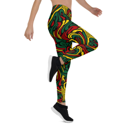 Striped Rasta Colors Leggings
