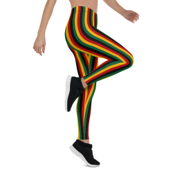 Kente Pattern Print Leggings