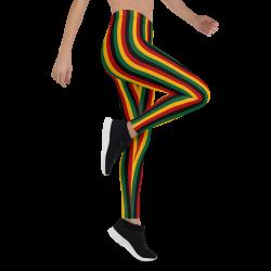 Kente Pattern Print Leggings
