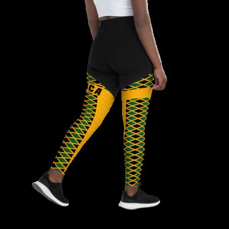 Diamond Pattern Rasta Colors Leggings