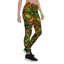 ZigZag Mix Multi Print Yoga Capri Leggings