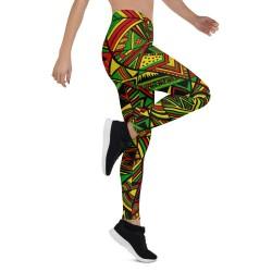 ZigZag Mix Multi Print Yoga Capri Leggings