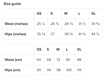Leggings Size Guide